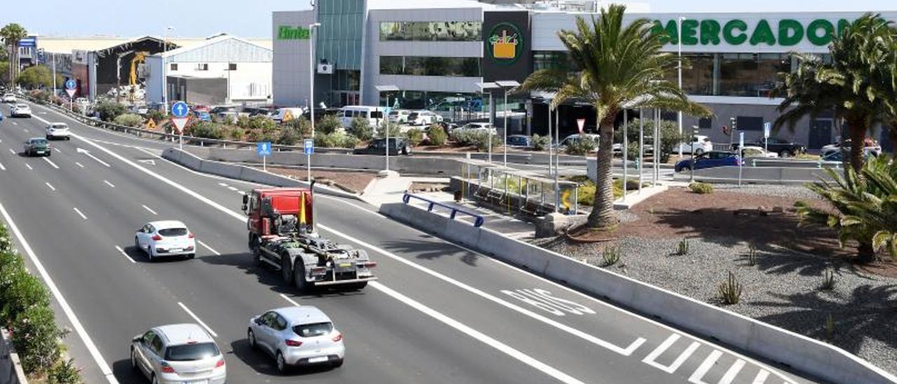 Vista del parque empresarial de Melenara desde la GC-1 | | YAIZA SOCORRO