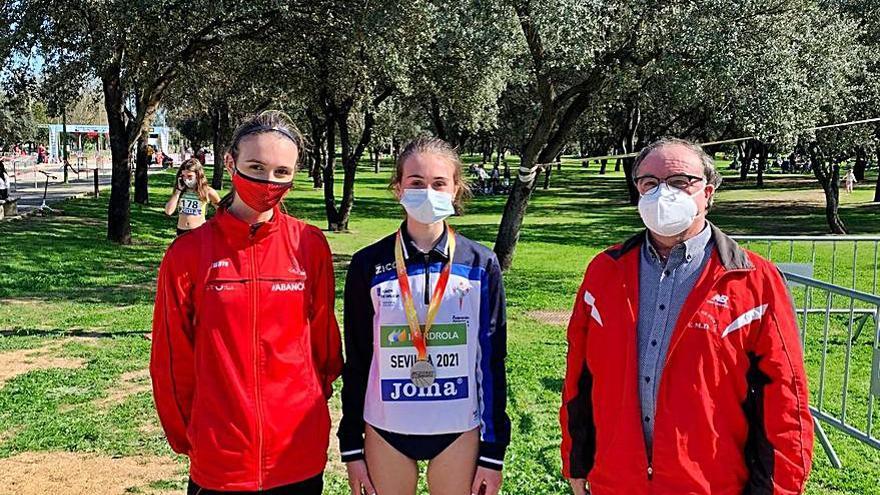 Nati Rivas, octava en 5 km marcha en Sevilla, en sub16