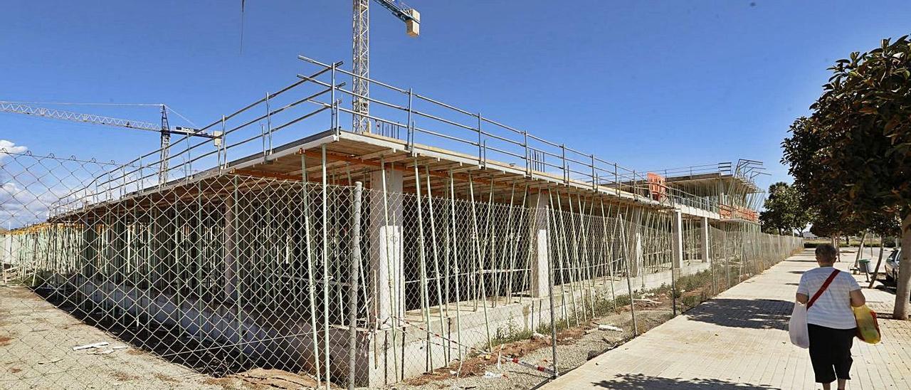 Las obras del nuevo instituto del Port de Sagunt sigue a buen ritmo   DANIEL TORTAJADA