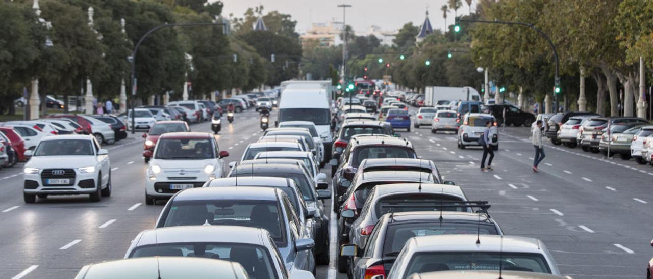 La Alameda de València es una de las zonas con más estacionamiento libre.