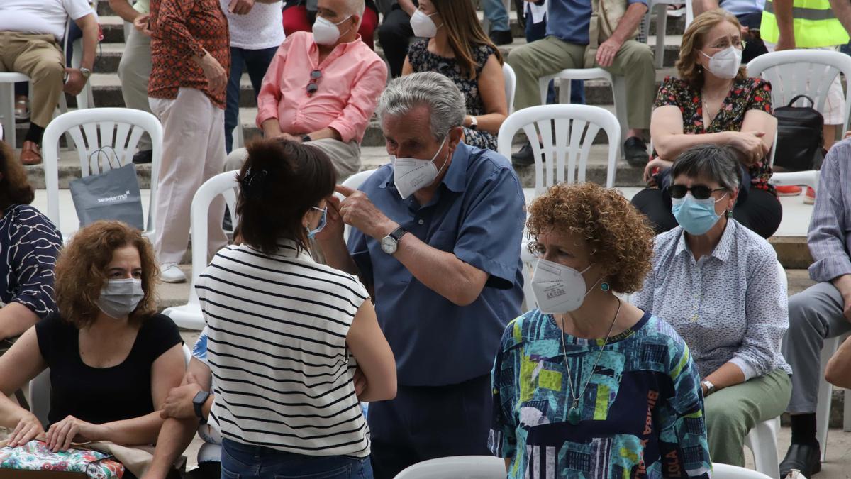 Julio Anguita homenajeado por el PCE en Córdoba