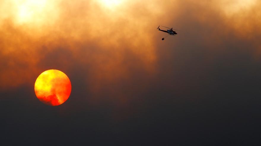 """Consolidan el perímetro del incendio en Tenerife, que sigue """"totalmente descontrolado"""""""