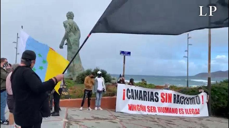 Manifestación en contra del racismo en Canarias