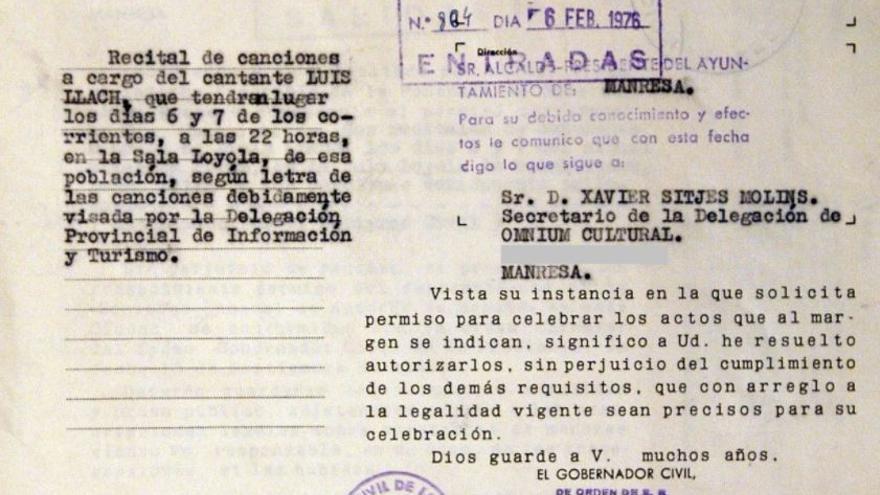 Memòria.cat estrena una web que recull els actes autoritzats i prohibits als inicis de la Transició a Manresa