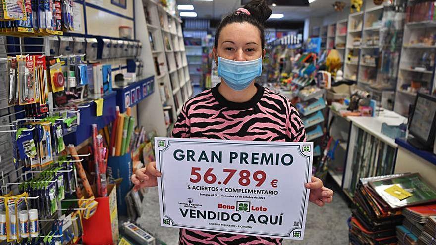 La Bonoloto da un premio de 56.000 euros en Peruleiro