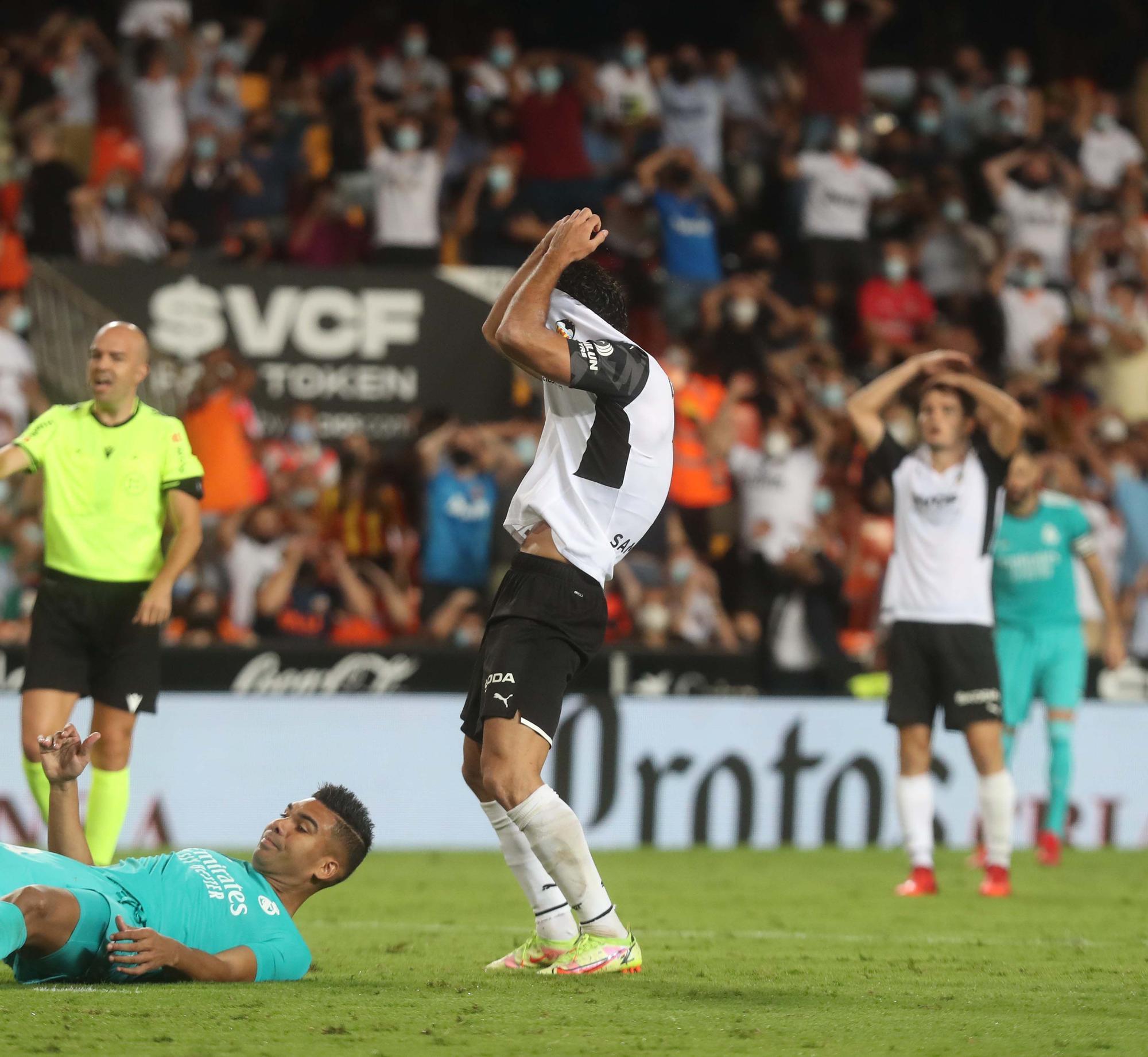 Las imágenes del partido entre el Valencia CF y el Real Madrid