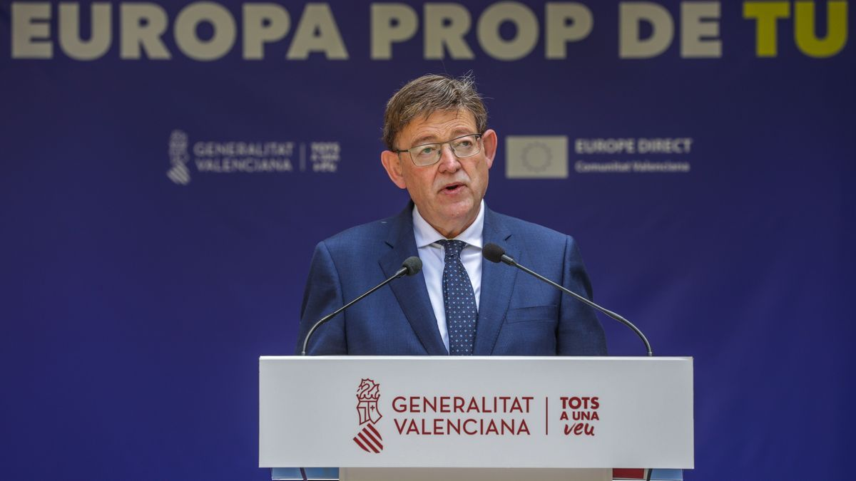 El president de la Generalitat, Ximo Puig, en el acto organizado por el Consell en conmemoración del Día de Europa