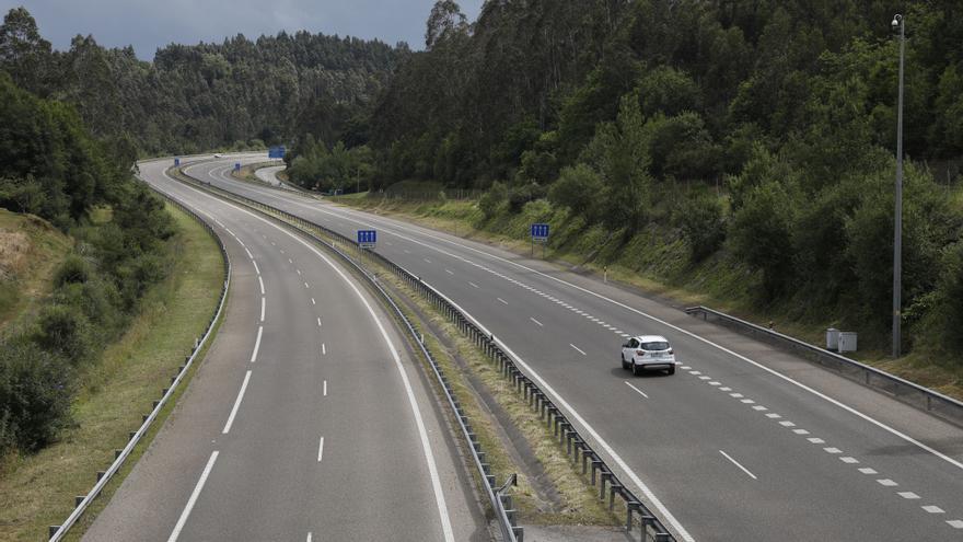 Caída en barrena del tráfico en la AS-II por el covid: 1,77 millones de vehículos menos en 2020