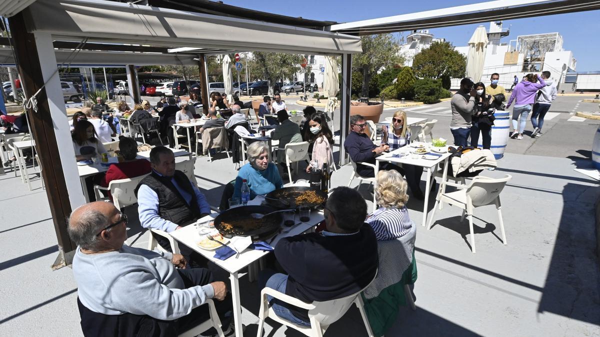 Imagen de una terraza en un local de hostelería de Castelló