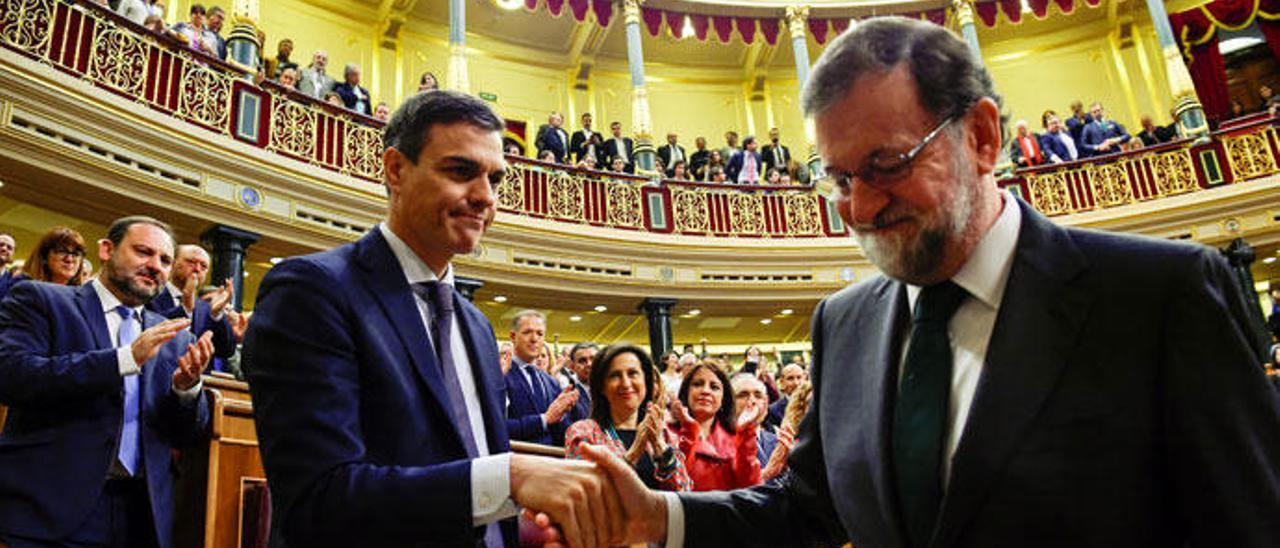 Mariano Rajoy se despide tras la moción de censura.