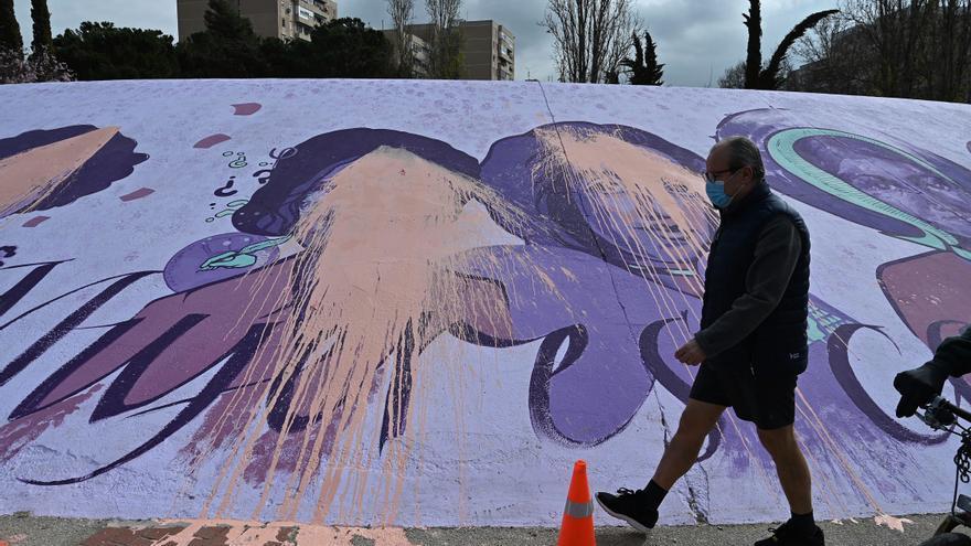 Vandalizan el mural feminista de Alcalá de Henares en la víspera del 8M