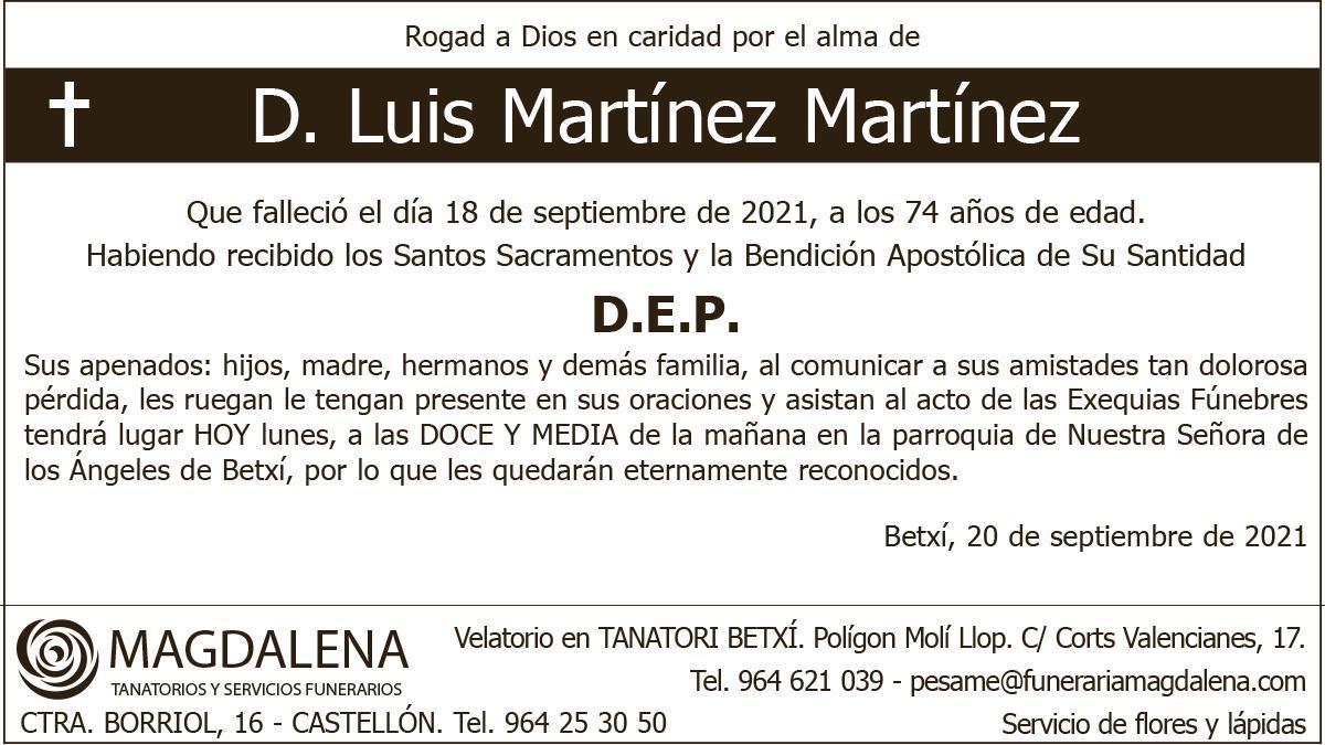 D. Luis Martínez Martínez