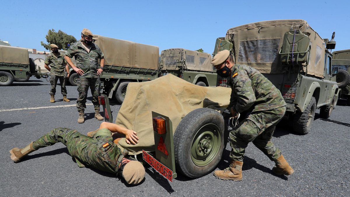 Maniobras de la Brigada Canarias