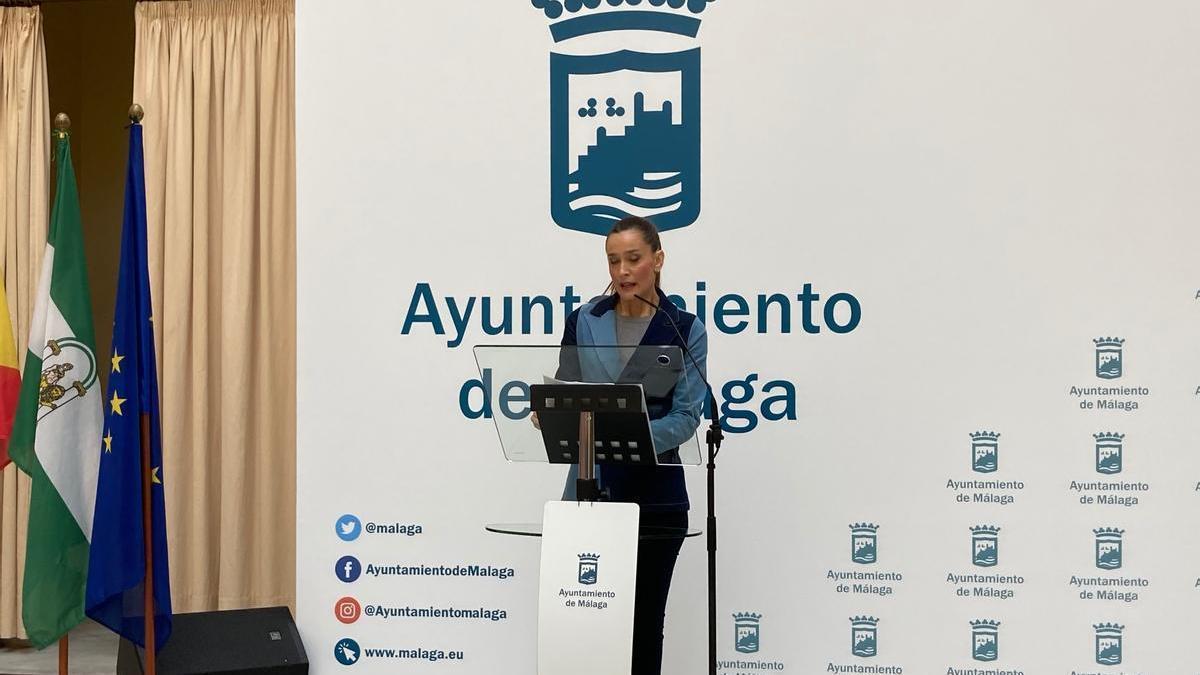 Elisa Pérez de Siles, en rueda de prensa.