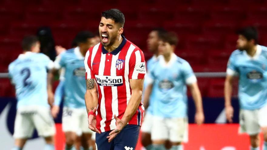 El Celta frena a un Atlético enganchado a Suárez