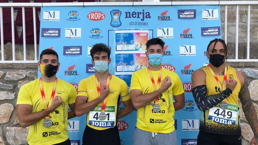 """La """"armada"""" atlética gandiense suma seis podios en el campeonato de España sub23"""