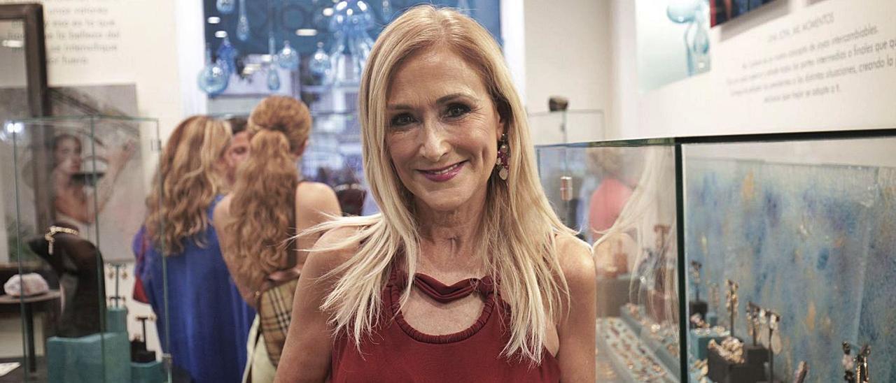 Cristina  Cifuentes, ayer, en la inauguración de la nueva colección de Coolook, en Palma.
