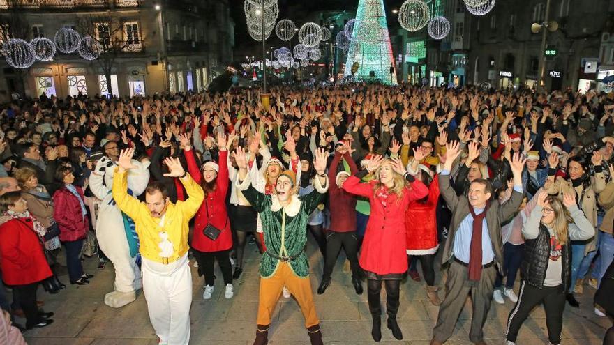 Así tendrás que bailar hoy el 'flashmob' de Navidad en Vigo