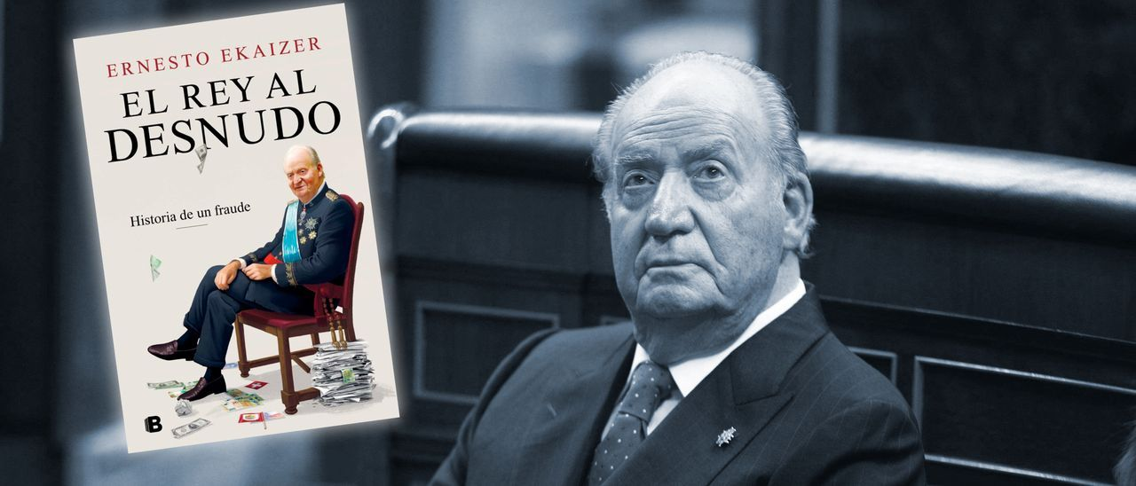 El Rey Juan Carlos I. A la izquierda, la portada del libro.