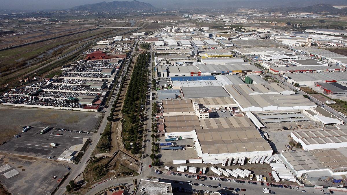 Imagen aérea del polígono industrial Guadalhorce