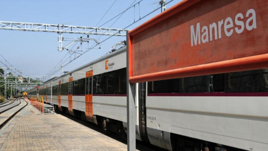 Renfe suprimeix la circulació de trens entre Manresa i Lleida