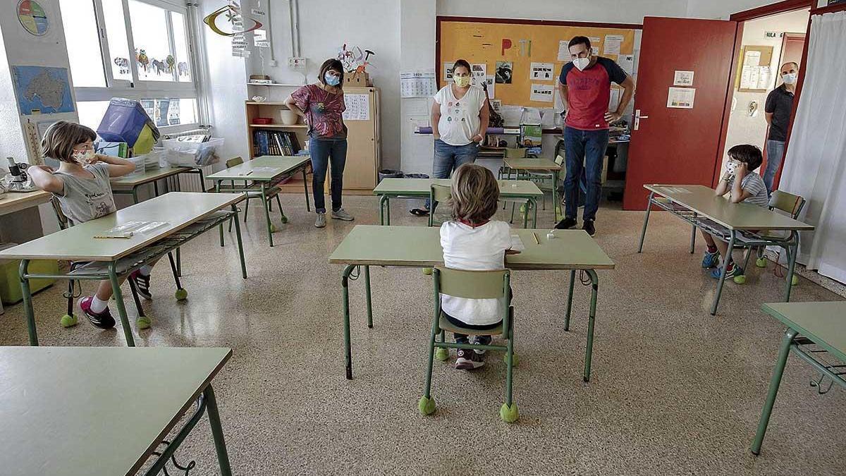 Un colegio de Palma durante las tutorías de la Fase 3.
