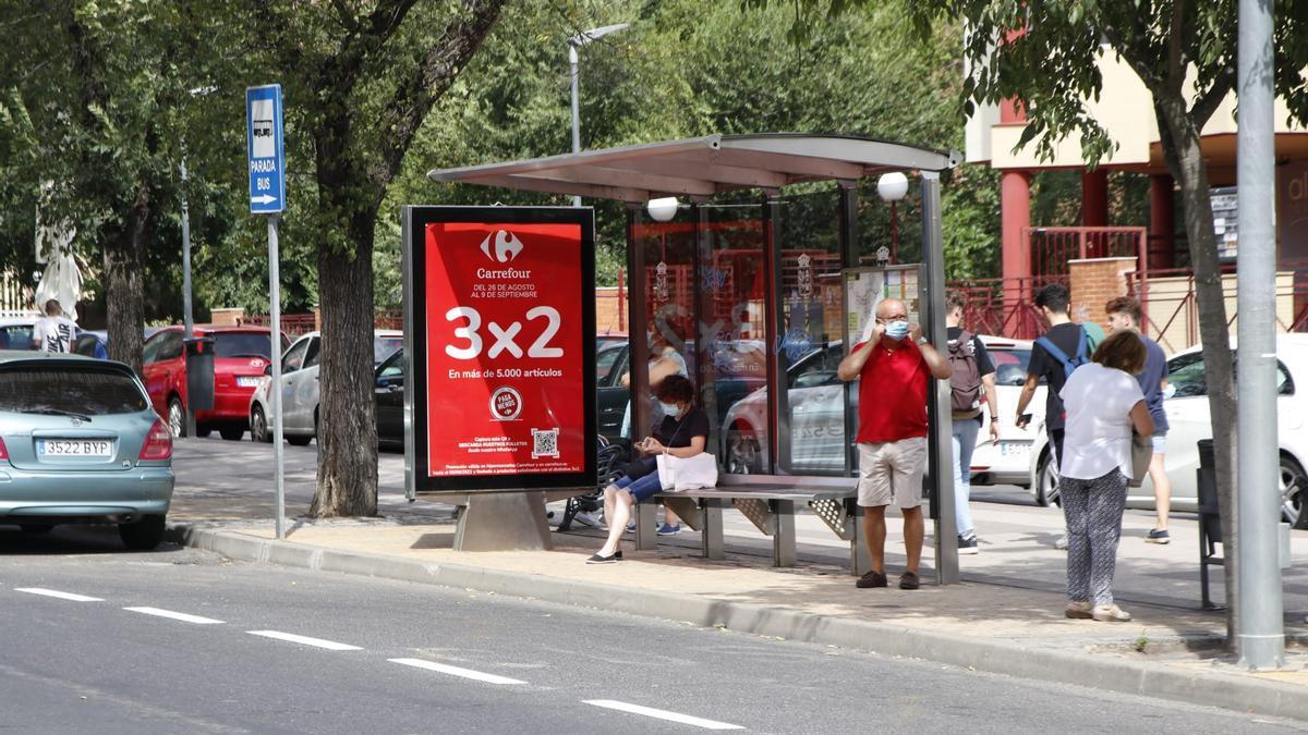 Avenida Ruta de la Plata, donde el proyecto, con un plazo de ejecución de cuatro meses, intervendrá en dos paradas.