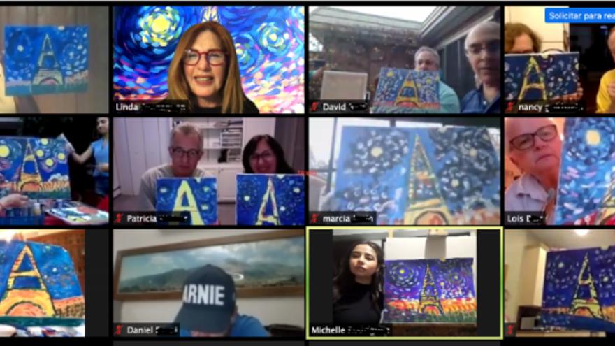 Online. Pinta como Van Gogh en París, con Vive Social Art