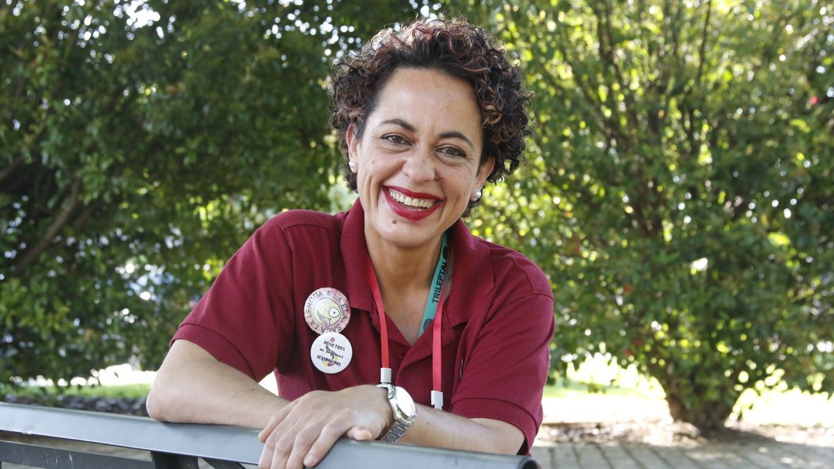 Isabel Bueno es una mujer muy positiva y solidaria.