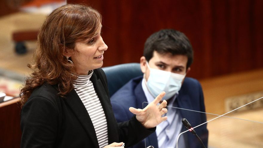 Mónica García, portavoz de Más Madrid en la Asamblea de Madrid.