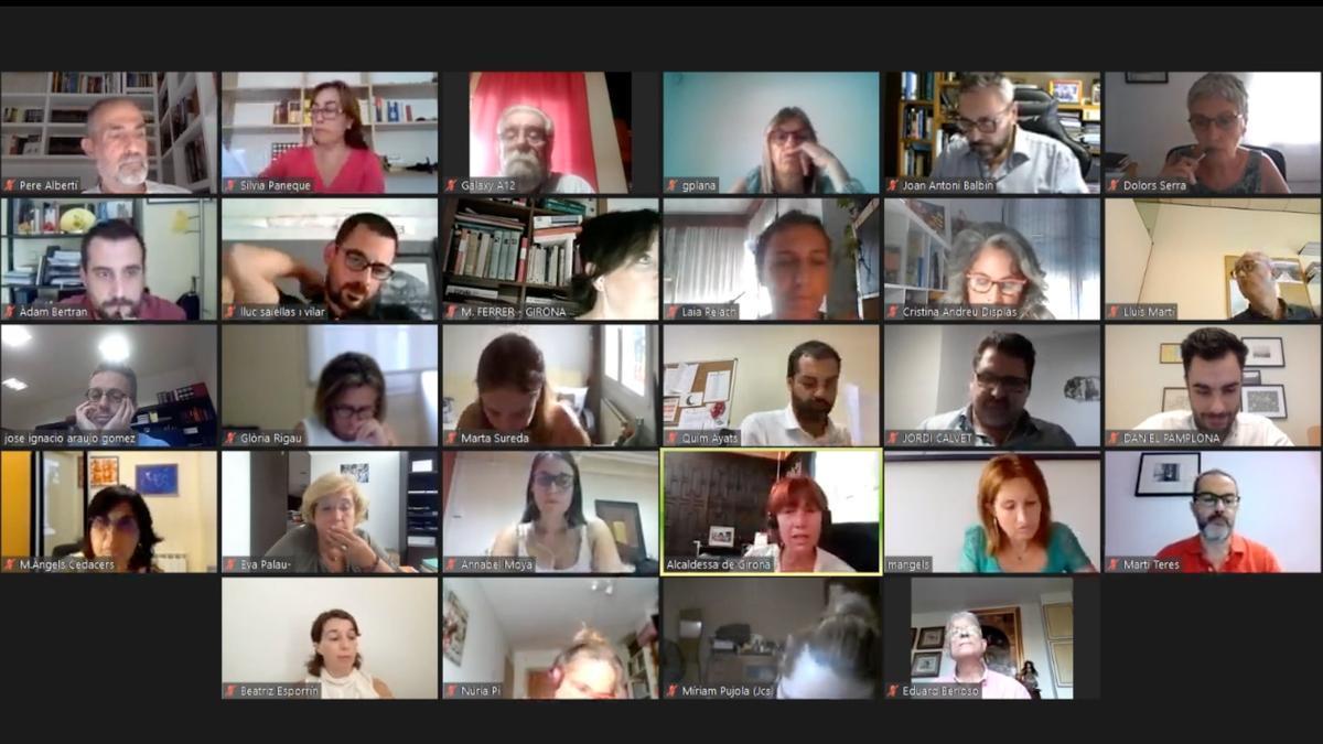 Captura del plenari de la ciutat de Girona en la sessió ordinària del mes de setembre