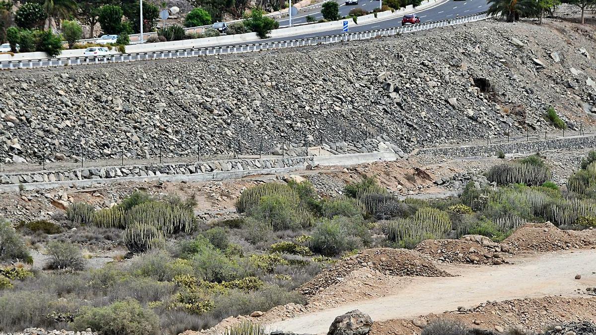 Terrenos de El Veril, donde Loro Parque proyecta la construcción de Siam Park.AIZA SOCORRO