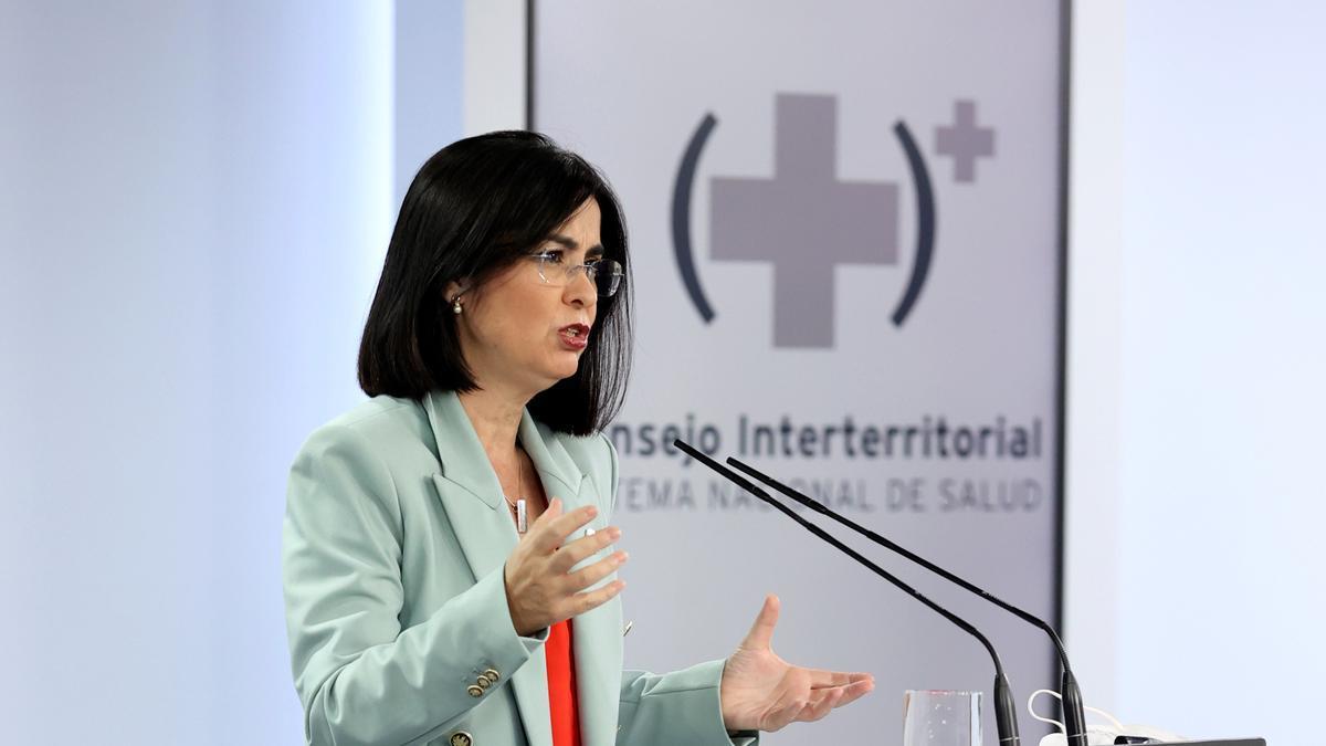 Rueda de prensa de la ministra de Sanidad, Carolina Darias
