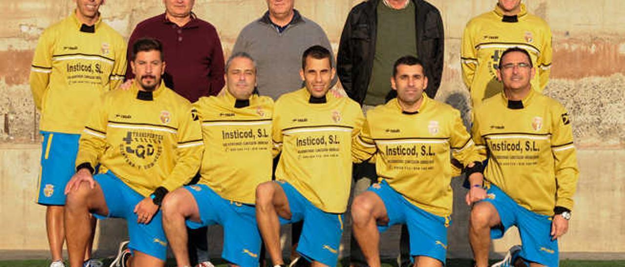 Técnicos y directivos del FC Guanarteme.