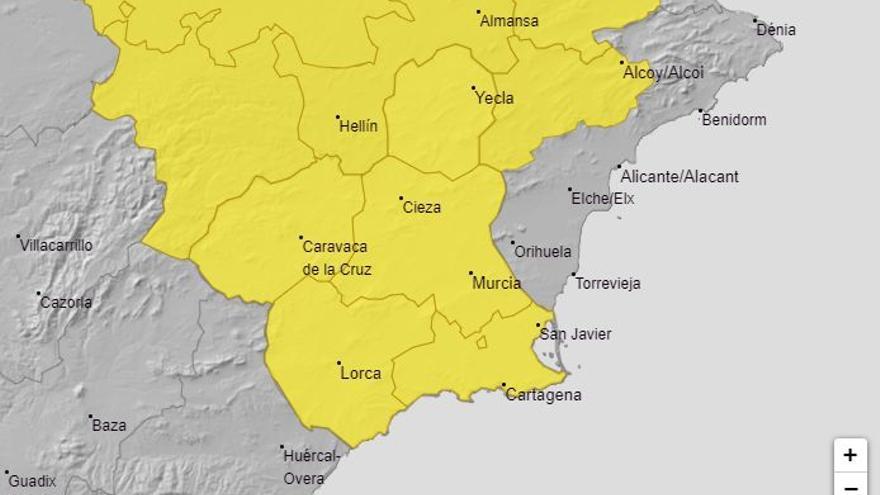 Aviso amarillo este sábado en la Región por lluvias y fuertes vientos