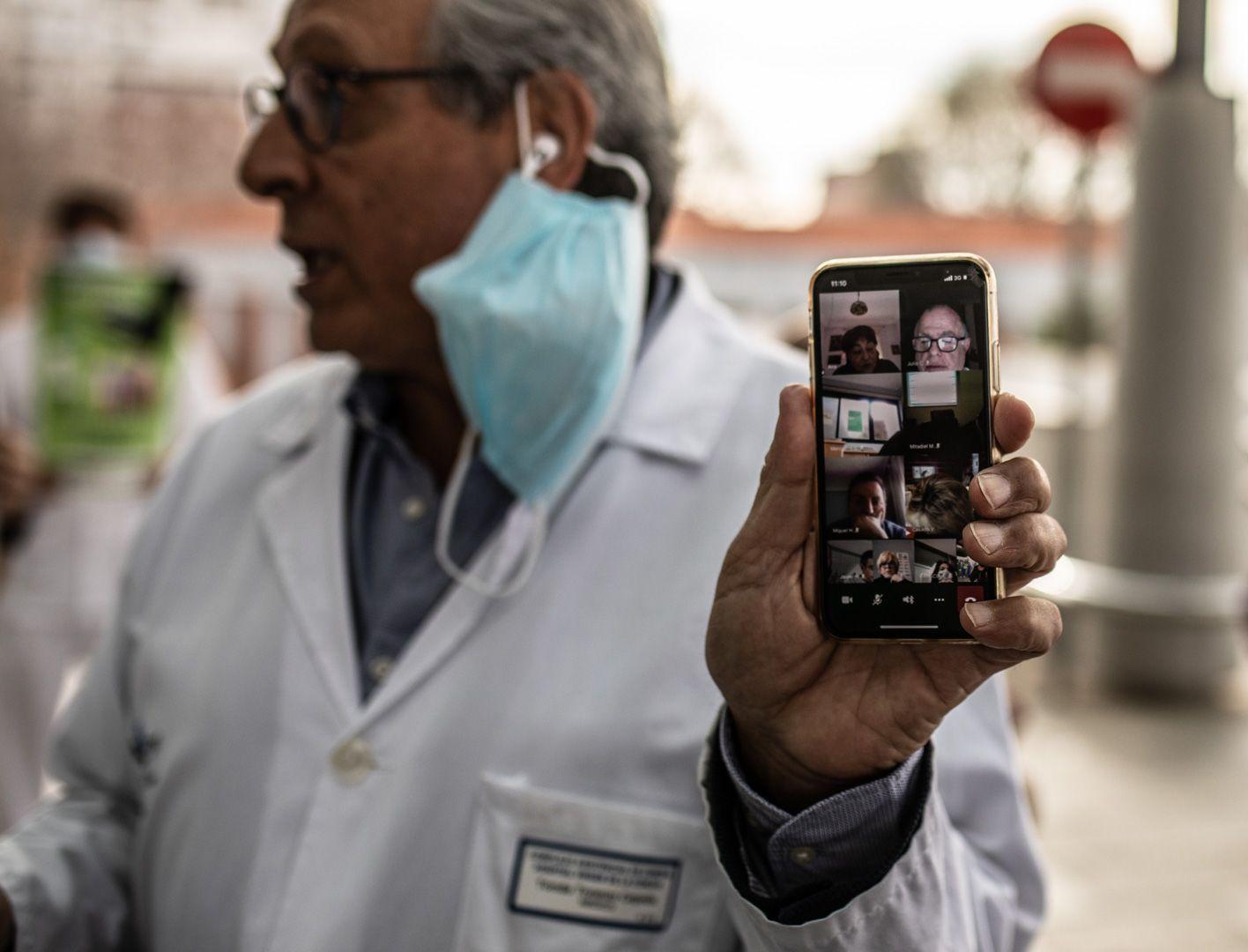Segundo día de protestas de los sanitarios en Zamora