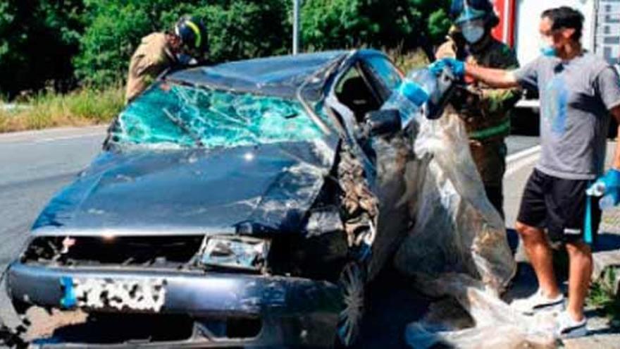 Excarcelado tras volcar su coche después de quedarse dormido en Ourense