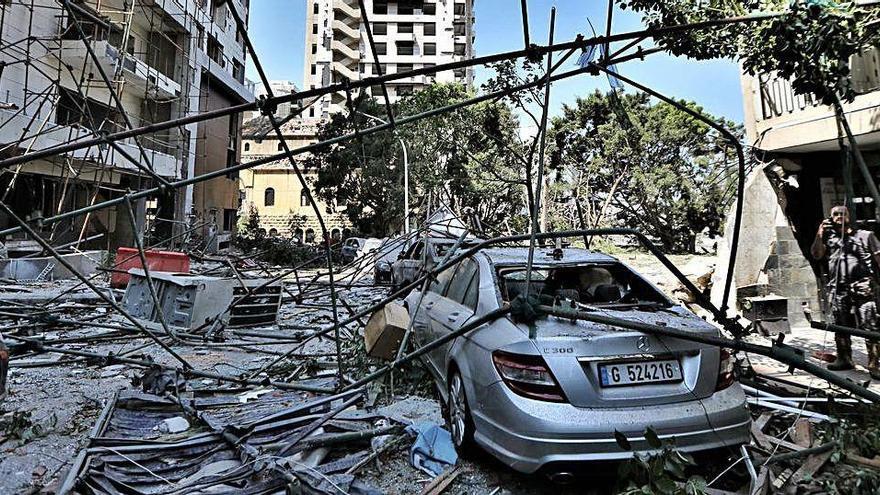 """Una valenciana en Beirut: """"Vi la onda expansiva, sentí un primer golpe y me tiré al suelo"""""""