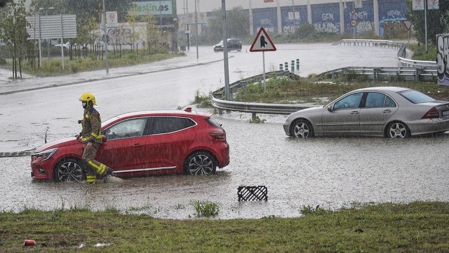 Xàfecs torrencials a la Selva i la Garrotxa, amb 48 litres per metre quadrat en 30 minuts a Vilobí d'Onyar