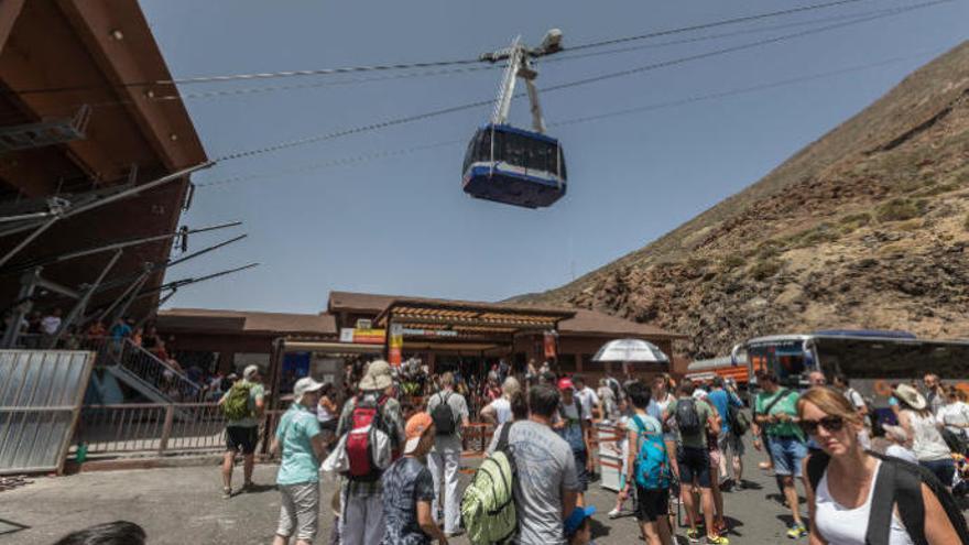 Cerrado el teleférico en el Parque Nacional del Teide