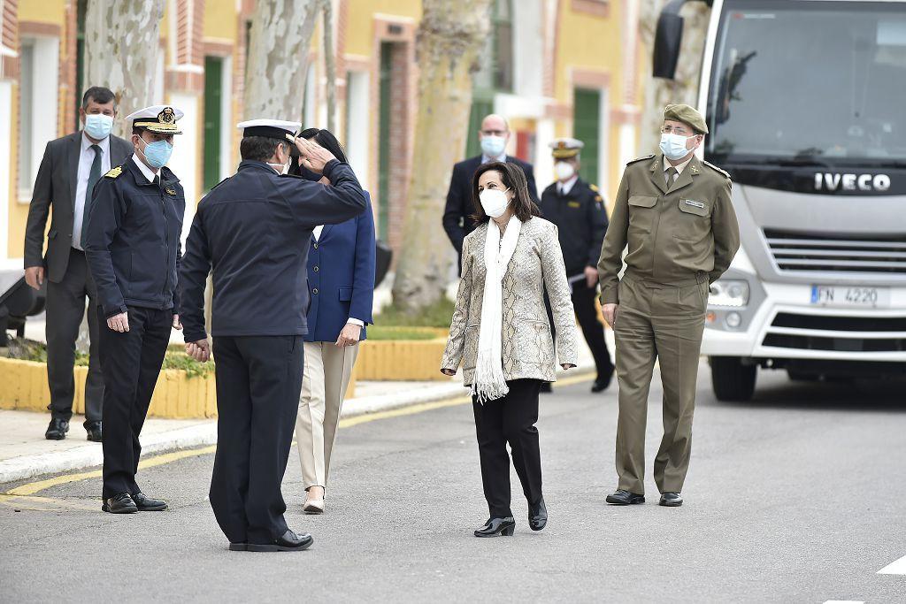 La ministra de Defensa, Margarita Robles, visita la Flotilla de Submarinos de la Armada en Cartagena