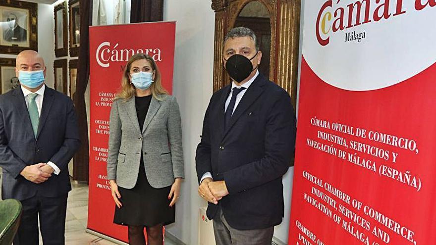 La embajadora de Moldavia visita la Cámara de Málaga
