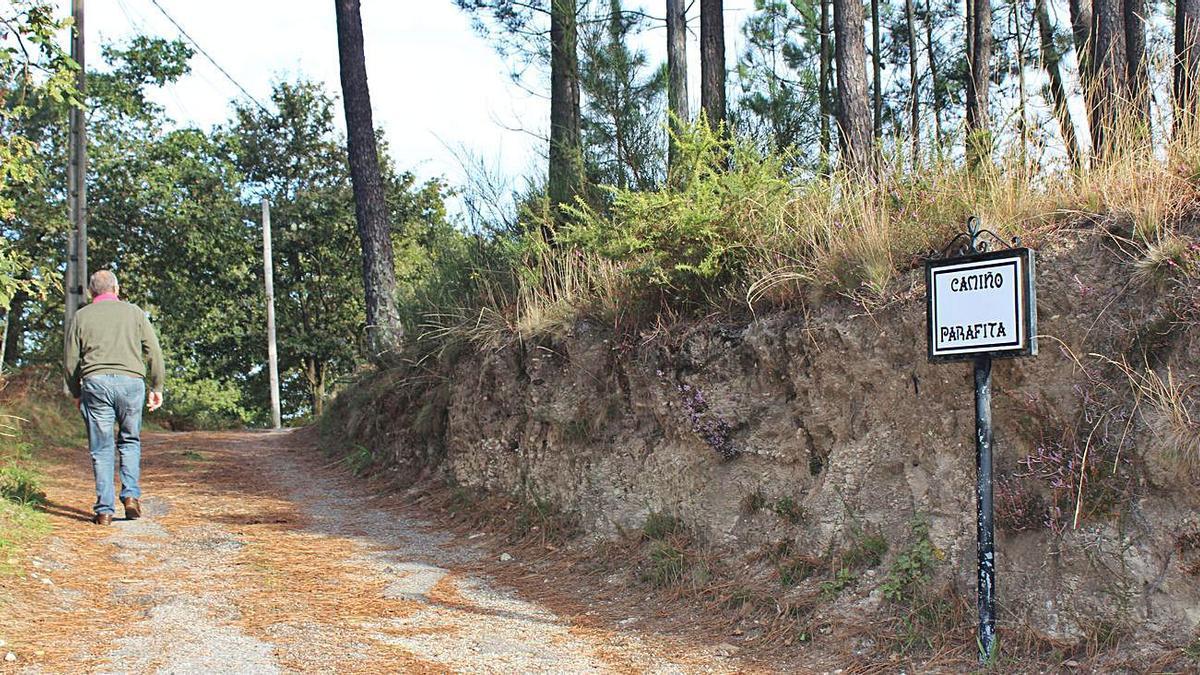 """El Camiño da Parafina, uno de los """"bautizados"""" gracias a los estudios de microtoponimia."""