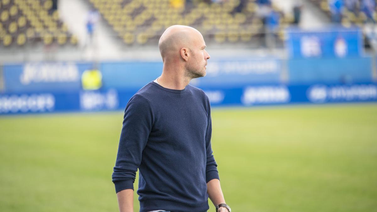 Xavi Calm durante el partido del pasado domingo ante el Mérida
