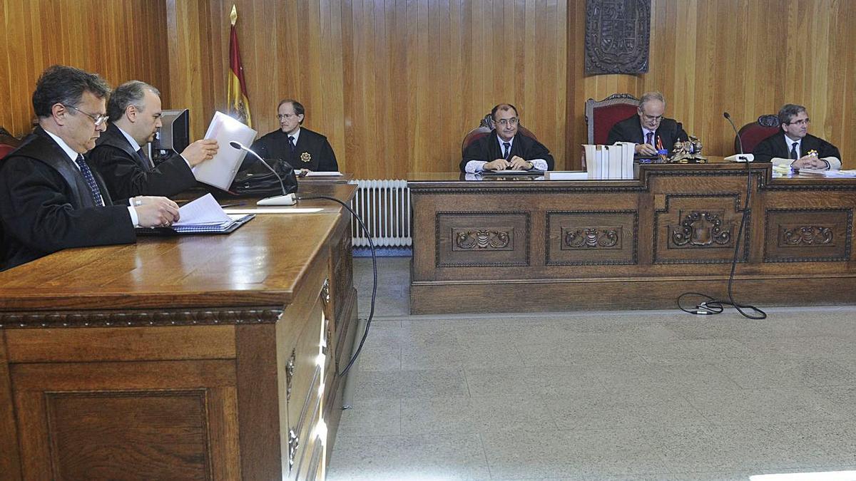 Imagen de la sala de lo Mercantil número 2, en la que se celebró el juicio de la Ley Concursal. |  // C. PARDELLAS