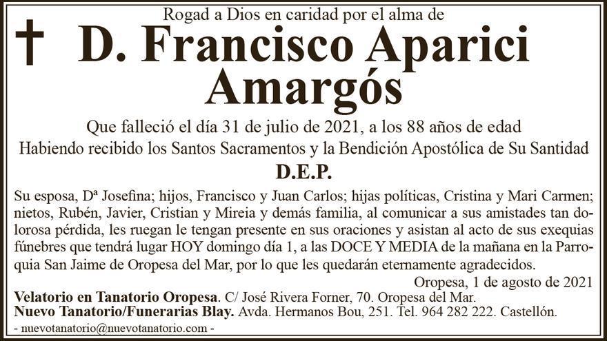 D. Francisco Aparici Amargós