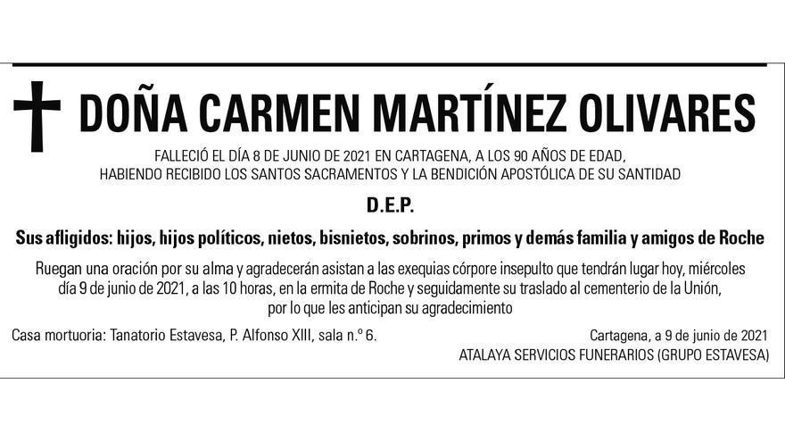 Dª Carmen Martínez Olivares
