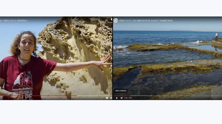 Ya es posible revivir la historia geológica de la costa alicantina a golpe de clic
