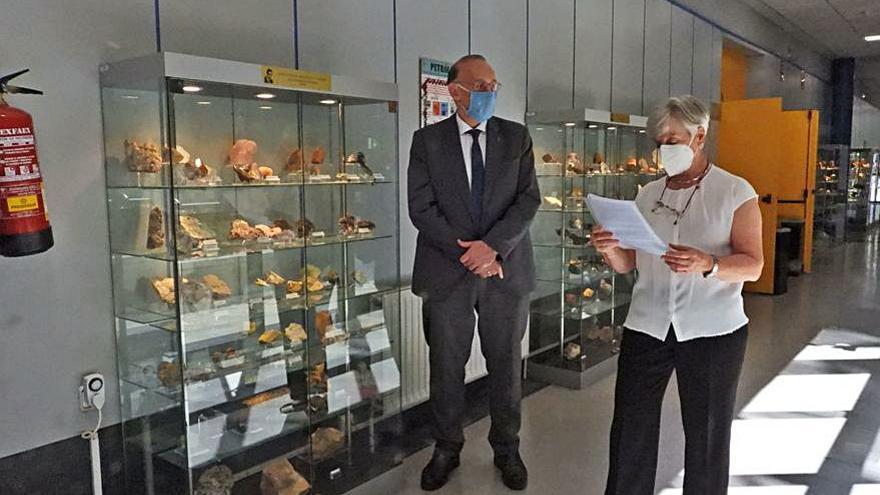 Un pequeño museo de geología en la Facultad de Ciencias