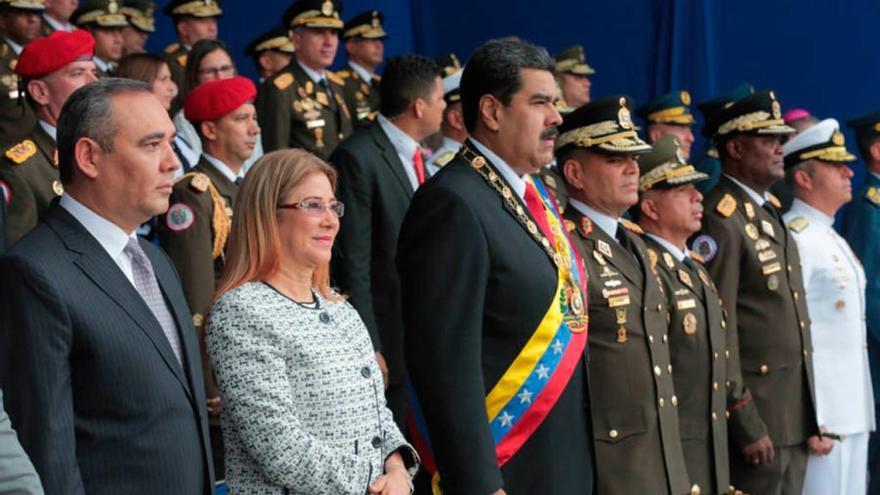 Los incidentes armados contra el gobierno de Nicolás Maduro